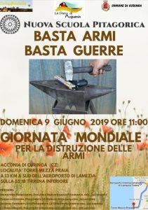 Domenica 9 Giugno a Curinga si celebra la Giornata Mondiale per la distruzione delle armi