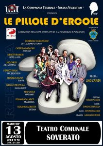 """Teatro Soverato – Martedì 13 Agosto in scena """"Le Pillole d'Ercole"""""""