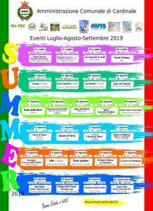 Al via la seconda edizione della Summer Cardinale, online il programma completo