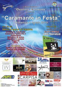"""Soverato – Domenica 4 Agosto """"Caramante in Festa"""""""