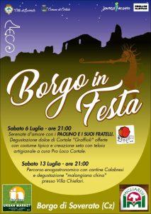 """Sabato 6 e 13 Luglio """"Borgo in Festa"""" a Soverato Superiore"""