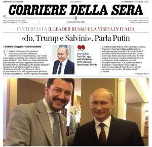 Sensazioni sulla visita di Putin