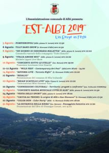 """""""Est-Albi 2019, un borgo in festa"""". Al via un ricco calendario di eventi"""