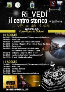 """A Girifalco il 10 e 11 Agosto torna """"Ri_Vedi il centro storico"""""""
