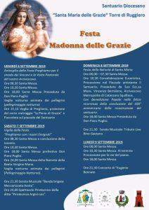 Torre di Ruggiero – Festa Madonna delle Grazie, programma completo