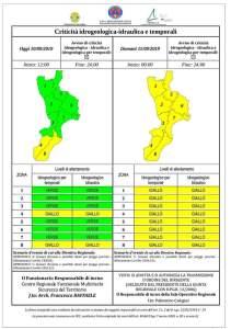 Allerta meteo della Protezione civile, possibili temporali su tutta la Calabria