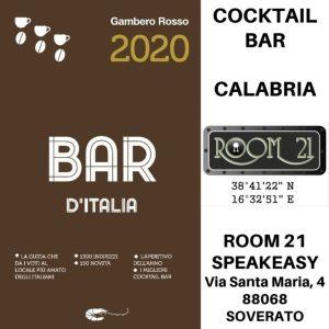 """Il Room 21 di Soverato è stato inserito nella prestigiosa Guida """"Bar d'Italia 2020"""" di Gambero Rosso"""