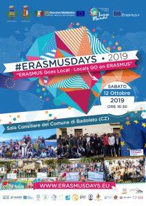 """Badolato ospita l'Erasmus Day 2019 con l'evento """"Erasmus Goes Local ∙ Locals Go on Erasmus"""""""