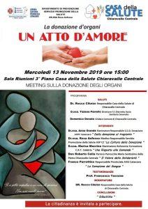 Meeting sulla donazione degli organi a Chiaravalle Centrale