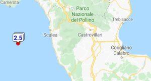 Scossa di terremoto sulla costa tirrenica calabrese