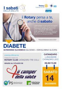 Sabato 14 dicembre sul lungomare di Catanzaro Lido screening della glicemia e dell'emoglobina glicata