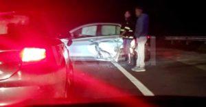Brutto incidente nella  notte lungo la SS 106, due feriti