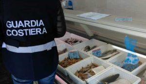 Sequestrati dalla Guardia costiera più di due tonnellate di prodotti ittici