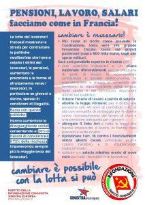 """""""Facciamo con in Francia"""", la campagna sociale di Rifondazione Comunista"""