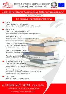 """Gli studenti di grafica del """"Majorana"""" di Girifalco incontrano il mondo editoriale"""