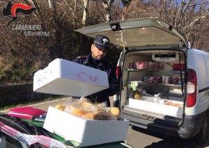 Sequestrati dai carabinieri forestali oltre 15 kg di formaggi privi di tracciabilità