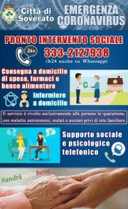 Coronavirus, indicazioni per utilizzare i servizi di intervento sociale del Comune di Soverato