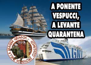 Sul Tirreno la Vespucci, sullo Jonio la nave quarantena