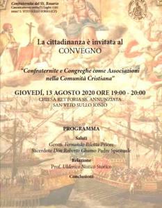 Oggi a San Vito sullo Ionio un convegno sulle confraternite