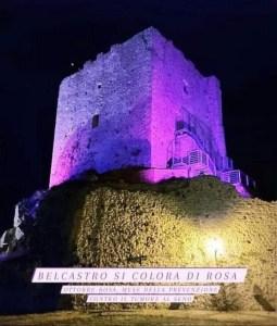 Belcastro, si colora di rosa il Castello Normanno per la lotta contro il tumore al seno