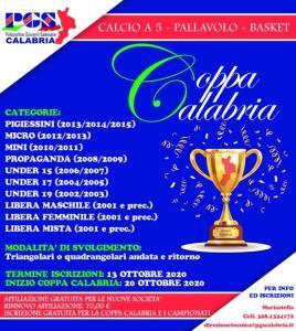 Polisportive Giovanili Salesiane, aperte le iscrizioni alla Coppa Calabria