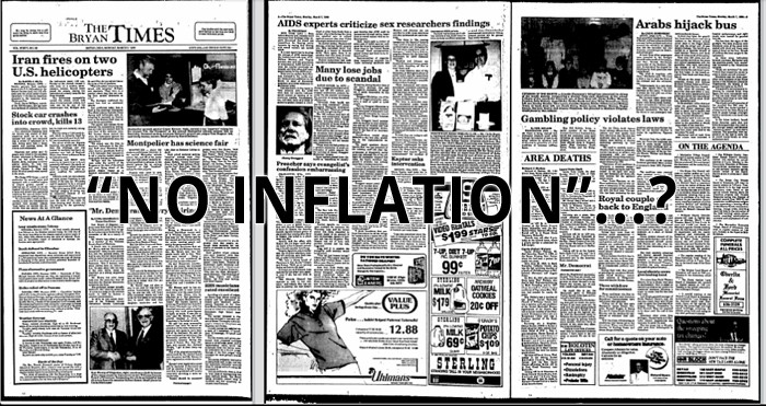 No inflation?
