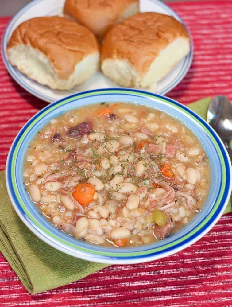 Slow Cooker Ham & White Bean Soup Recipe