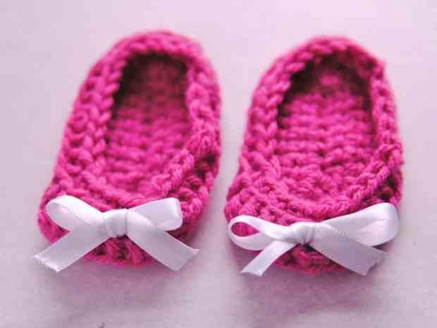 أحذية كروشية للأطفال 2018