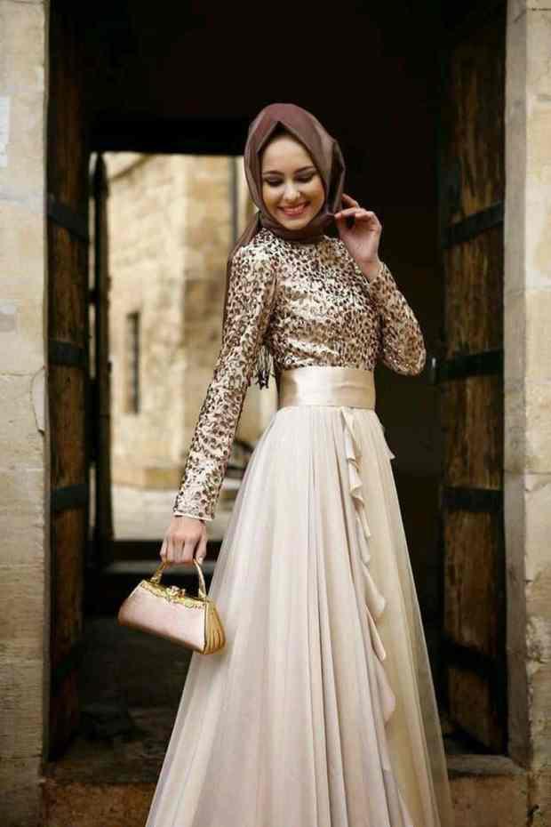 صور أزياء محجبات للسهرة منوعة