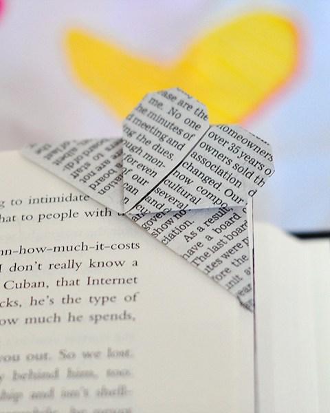 Monday Mini Project: Origami Heart Bookmark