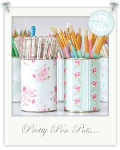 Monday Mini Project: Pretty Pen Pots