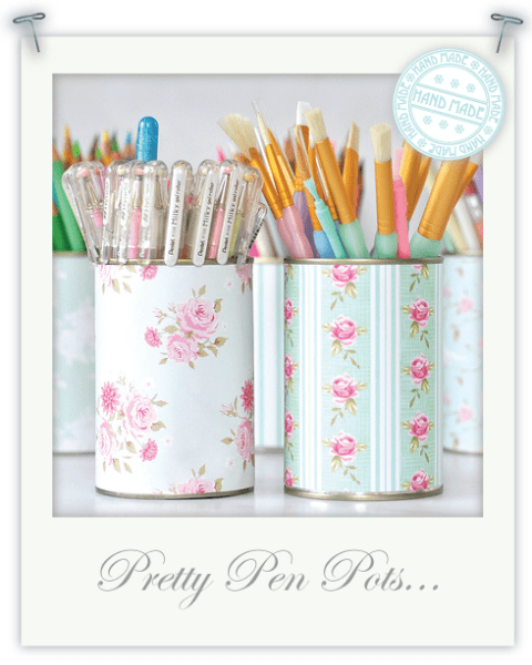 Monday Mini Project: Pretty Pen Pots