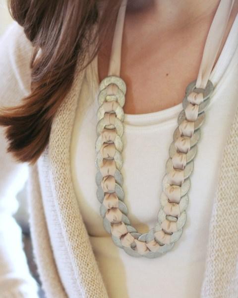 Monday Mini Project: Washer & Ribbon Necklace