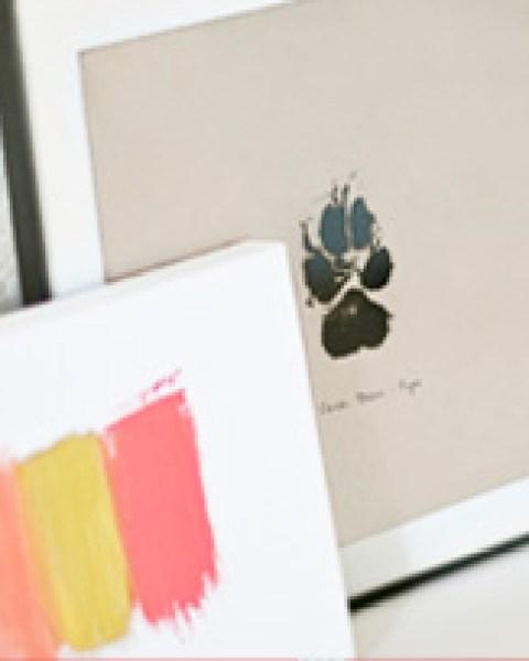 DIY Craft – Paw Print Wall Art | Modern Dog magazine
