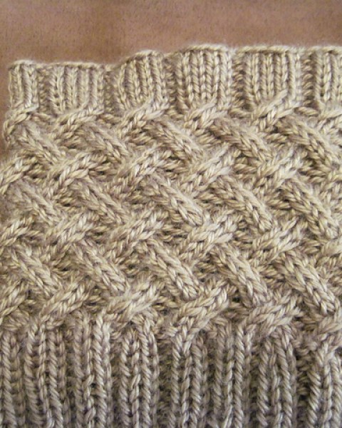 Knit Cabled Boot Topper