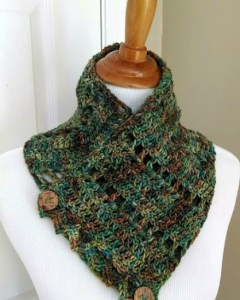 Earthy Fairy Button Cowl