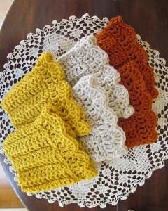 Free Crochet Boot Cuff Pattern