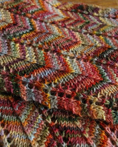 Sock Yarn Knit Scarf