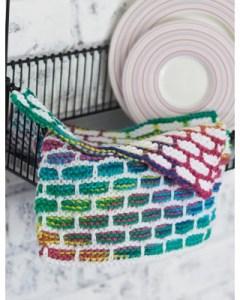 Lily Sugar 'n Cream Brick Stitch Dishcloth