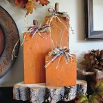 DIY Halloween Decor ~ 2×4 Pumpkins