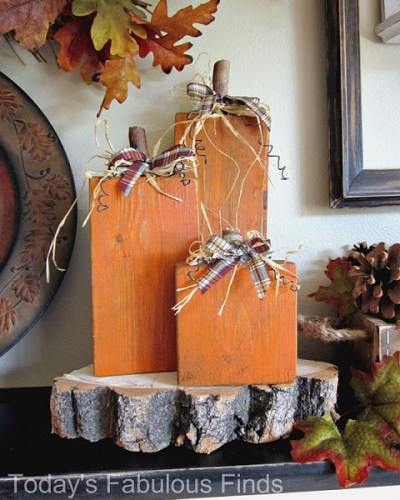 DIY Halloween Decor ~ 2×4 Pumpkins