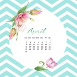 Desktop Wallpaper Calendar ~ April 2017