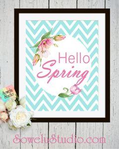 Hello Spring ~ Printable Wall Art