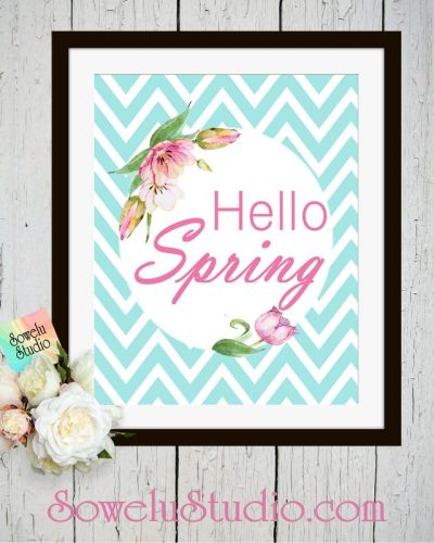 Hello Spring ~ Printable Wall Art