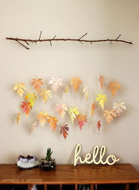3-watercolor leaf wall hanging