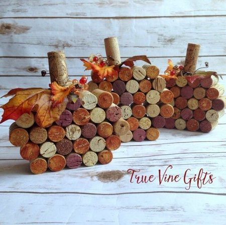 4-Wine Cork Pumpkins