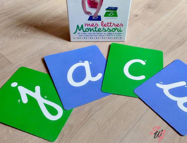 Lettre rugueuses Montessori