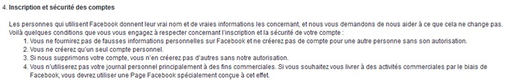 Facebook inscriptions