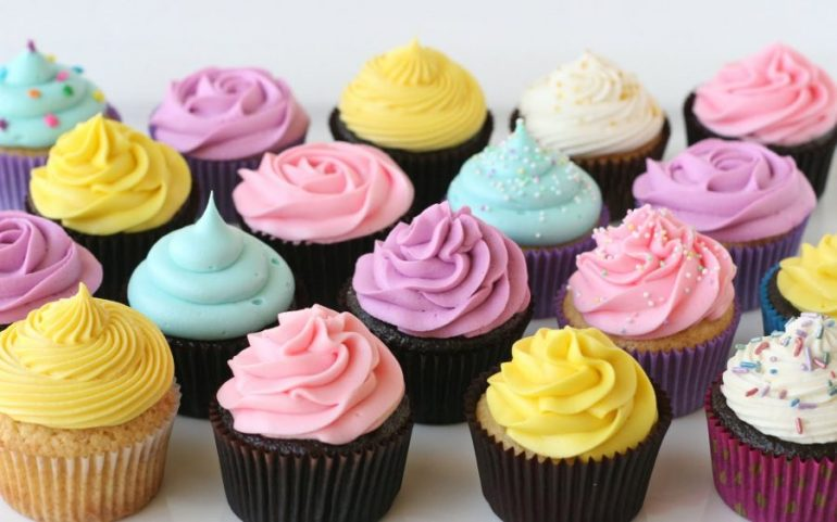 color cupcake
