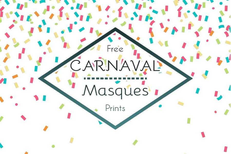 Masques de Carnaval - Free Printable